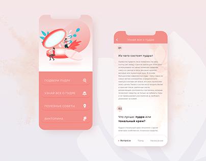 Dribbble shot design. Beauty app