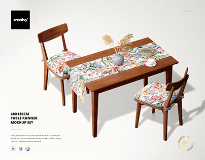 40x180cm Table Runner Mockup Set