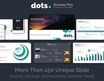 dots. - Business Plan PowerPoint Template