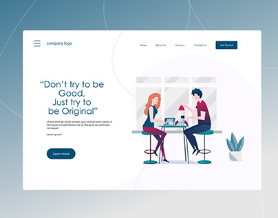Start Up Website Banner Concept