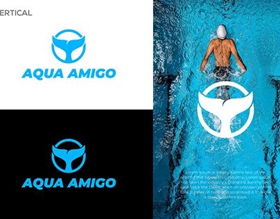 Whale tail logo / Aqua Amigo Logo Design