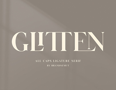 GLITTEN - All Caps Ligature Serif [FREE]