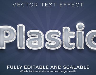 Plastic Realistic Editable Text Effect