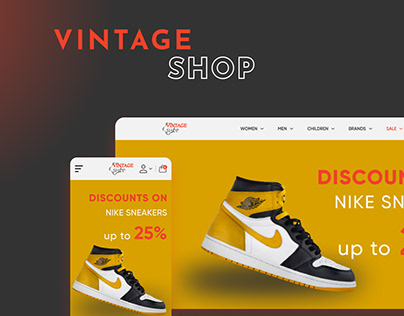 UX/UI Design for Vintage Shop