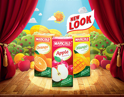 Marigold UHT Fruit Drink new packaging launch
