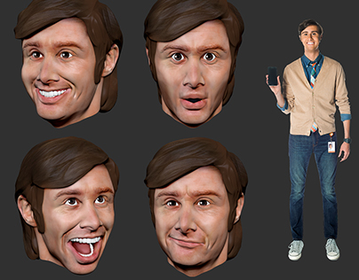 AT&T Owen 3D printed heads