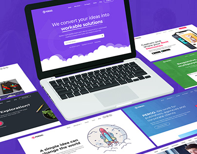 Pergo - A Multipurpose Landing Pages Pack for Startups,