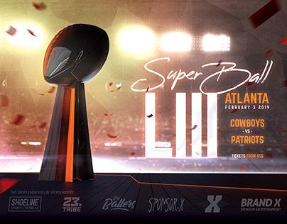 Football Super Ball Flyer American Football Poster