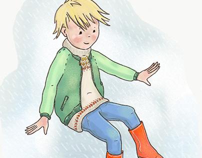 Rain Fun #digital illustration #kids