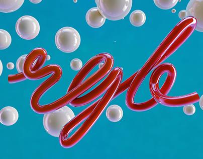 3D Typography RGB