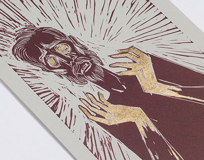 King Lear Linocut Illustrations