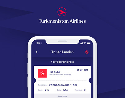 Turkmenistan Airlines - Design Challenge 04
