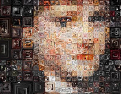 Glass Block Mosaics