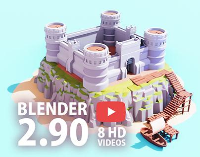 Blender Speed Art - LowPoly ISLAND Blender 2.9 Low Poly