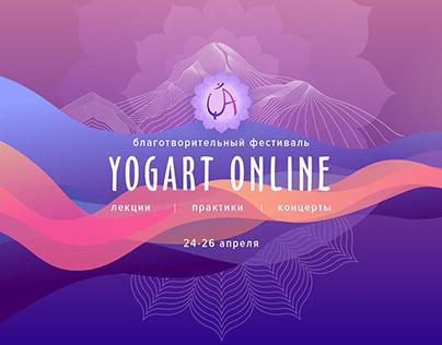 Design for festival YOGART ONLINE