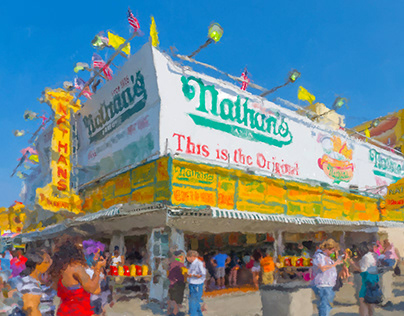 Coney Island Digital Paintings