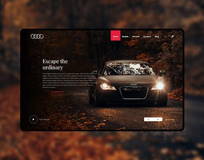 Audi website design concept