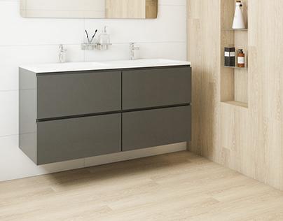 Bathroom renders for catalogue #keratiles #ice #ninsba