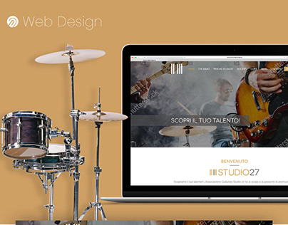 Music Event Website Landing page - WebDesign UI/UX