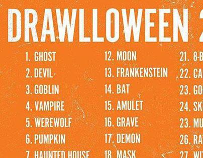 #drawlloween Halloween's drawing challenge