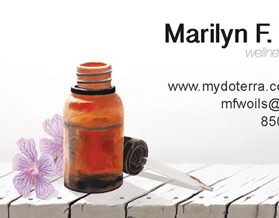 Essential oil Business Card.