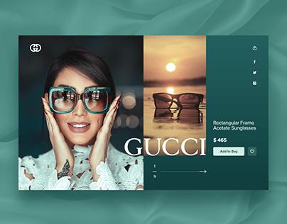Gucci glasses concept website design.