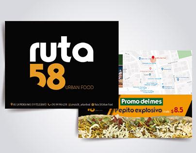 Progettazione materiale pubblicitario Ruta58