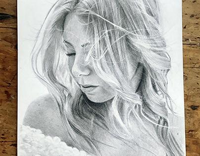 Graphite drawing - Pauliina