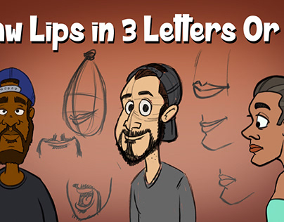 Draw Lips In Three Letters Or Less