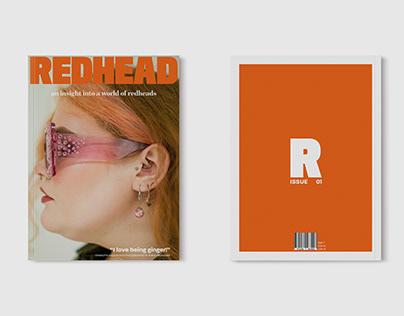 REDHEAD: ISSUE 01 // EDITORIAL & UI DESIGN // 2020