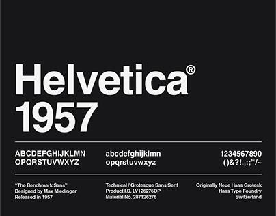 Monotype Helvetica Specimen