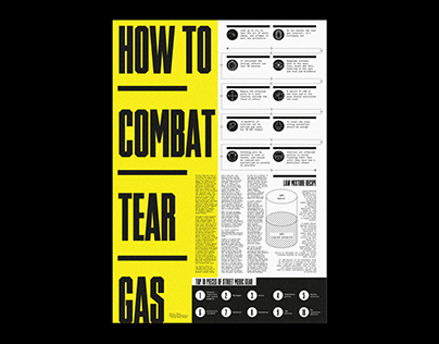 How to Combat Tear Gas – Infographic Poster