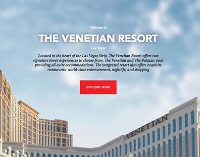 Expedia Website | Venetian Resort | UX writing