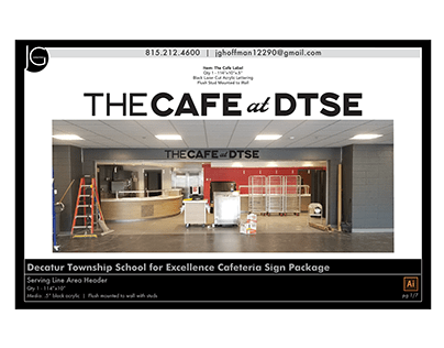 Decatur Township School for Excellence Cafe Signs