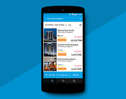 Re-design hotel booking application