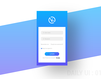 Daily UI : 01 - sign up screen