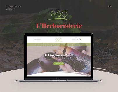 L'Herboristerie - logo & HomePage