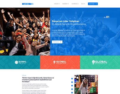 AIESEC Turkey UI Design