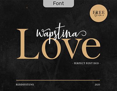 Wapstina Love Duo Font