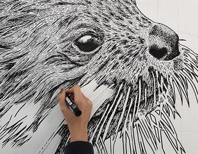 """Otter Universe"" Mural"