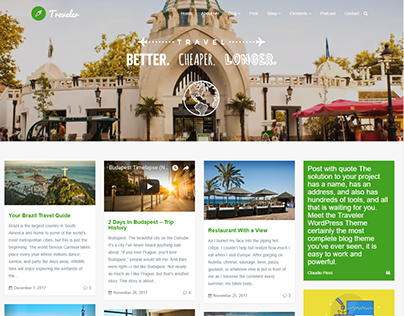 Traveler - Blog WordPress Theme - Full-width Blog