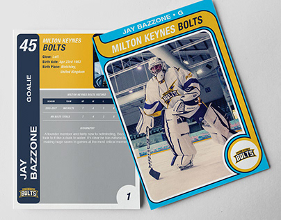 MK BOLTS ANNIVERSARY HOCKEY CARDS
