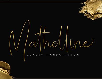 Matheline - Classy Handwritten