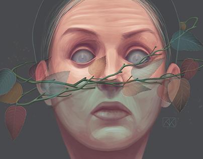 women's blindness look