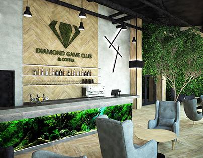 Modern bar interior project