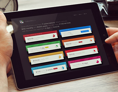 Subscribio App Design