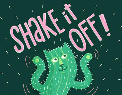 Cactus Cat Shaking It Off
