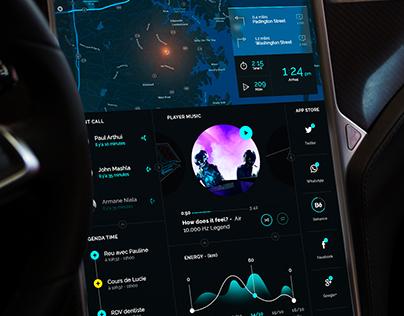 Tesla Interface | Tron Redesign