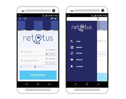Retotus / UI/UX eCommerce mobile app design