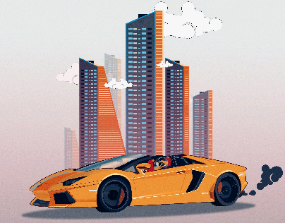 Lamborghini & The Sky Scrappers